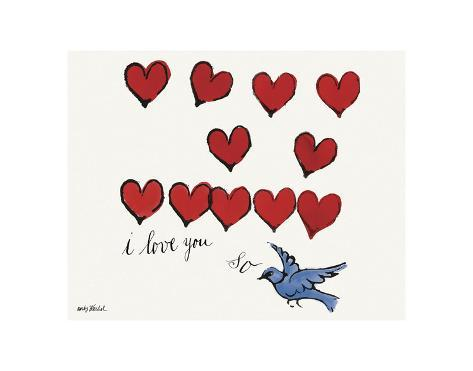 i love you so c 1958 prints by andy warhol at allposters com