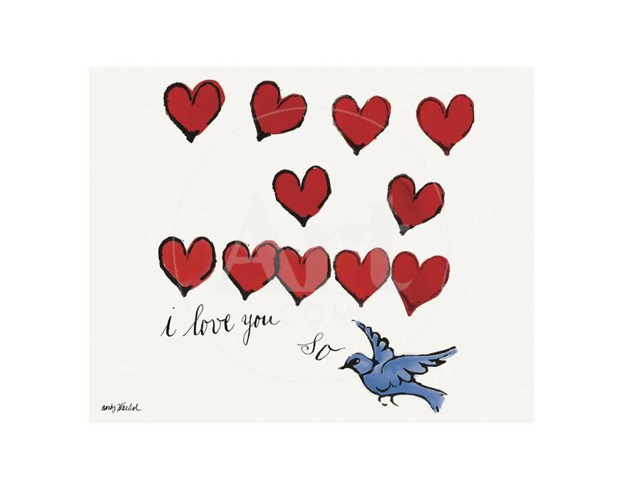 i love you so c 1958 posters por andy warhol na allposters com br