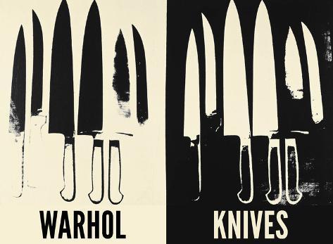 Knives, c. 1981-82 (Cream and Black) Art Print