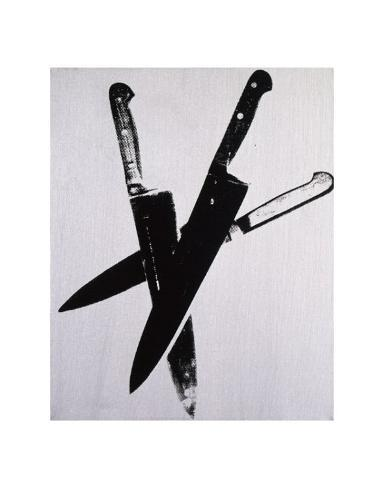 Knives, c.1981-82 (three black on cream) Stampa artistica