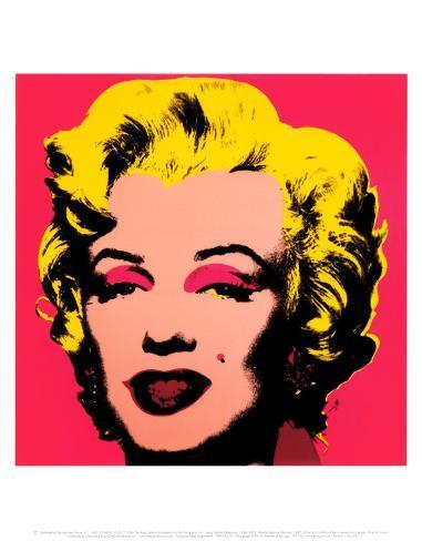 Marilyn Monroe, 1967 (hot pink) Art Print