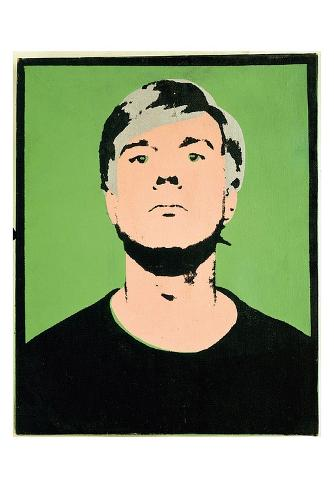 Self-Portrait, c.1964 (on green) Art Print
