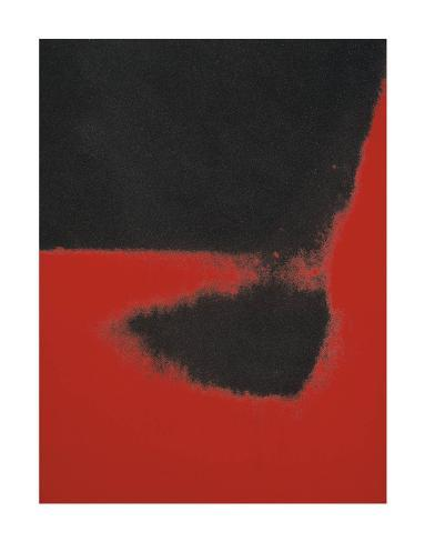 Shadows II, 1979 (red) Art Print