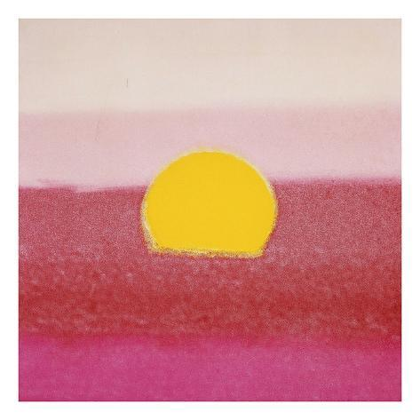 Sunset hot pink pink yellow stampa gicl e di for Ricerca su andy warhol