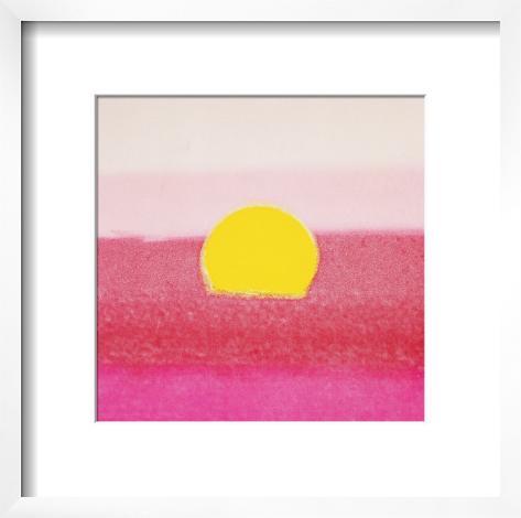 Sunset, c.1972 (hot pink, pink, yellow) Framed Art Print