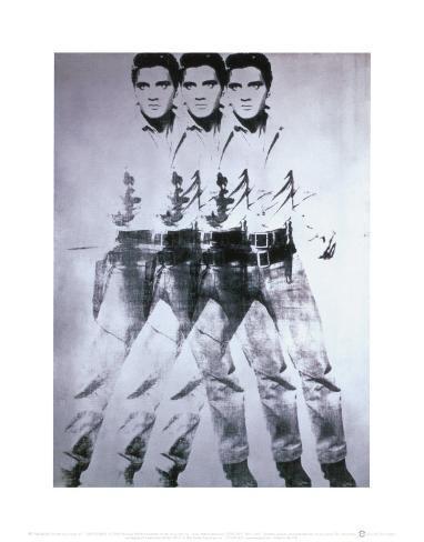 Triple Elvis, 1963 Art Print