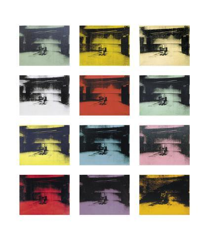 Twelve Electric Chairs, c.1964/65 Art Print