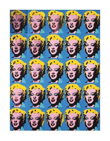 Twenty five colored marilyns 1962 poster di andy warhol for Ricerca su andy warhol