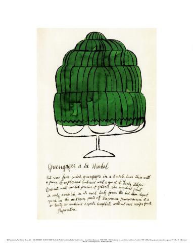 Wild Raspberries, c.1959  (green) Art Print