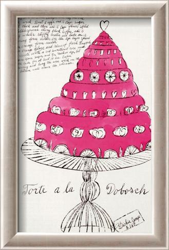 Wild Raspberries, c.1959  (pink) Kehystetty taidevedos