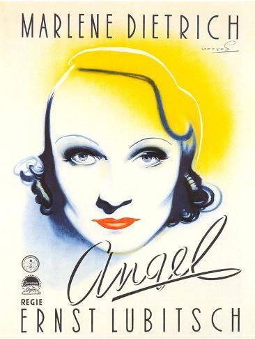 Angel, Dutch Movie Poster, 1937 Stampa artistica