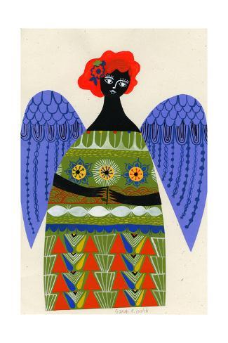 Angel Holding a Flower Art Print