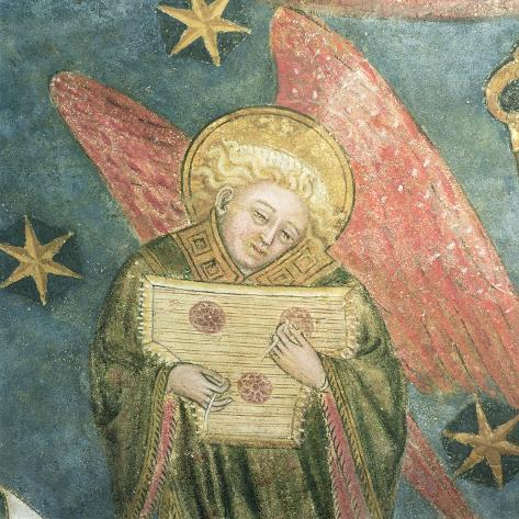 Angel Musician Playing a Psaltery, Detail from the Vault of the Crypt Impressão giclée