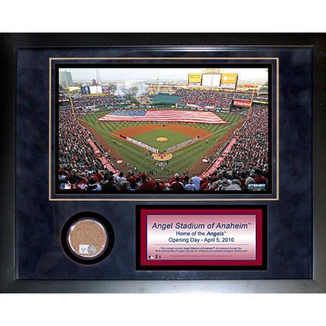 Angel Stadium Mini Dirt Collage Framed Memorabilia