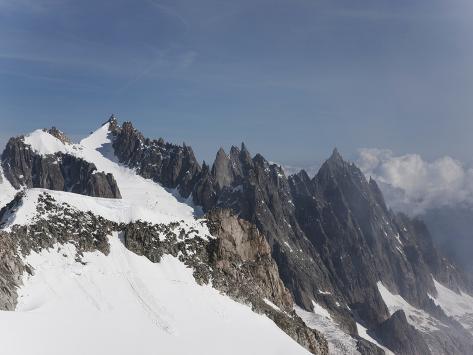 Mont Blanc, Courmayeur, Aosta Valley, Italian Alps, Italy, Europe Photographic Print