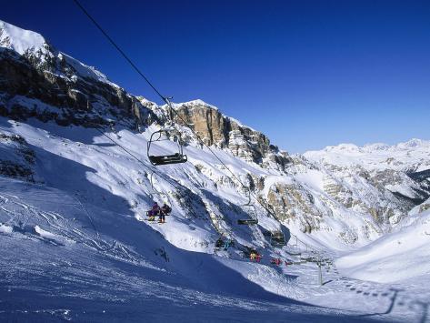 Ski, Cortina, Dolomiti Photographic Print
