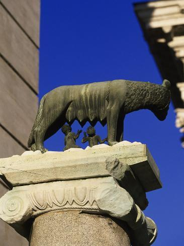 The Wolf with Romuls and Remus, Rome, Italy Photographic Print