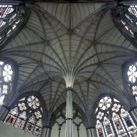 Fan Vaulting in Westminster Abbey Chapter House Ceiling Photographic Print