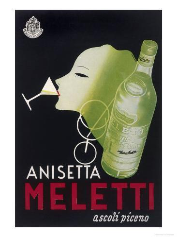Anisetta Meletti Giclée-vedos
