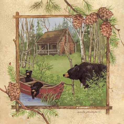 Black Bears I Art Print