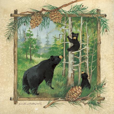 Black Bears II Art Print