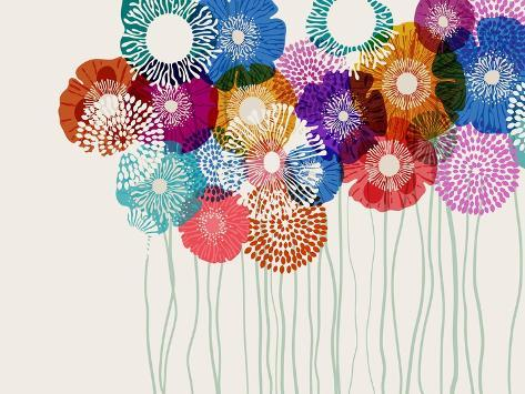 Colorful Flower Background, Eps10 Vector Stampa artistica