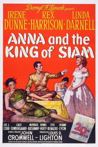Anna and the King of Siam, Linda Darnell, Rex Harrison, Irene Dunne, 1946 Art Print