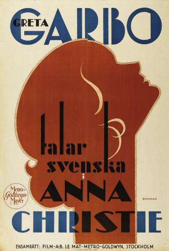 Anna Christie - Swedish Style Poster