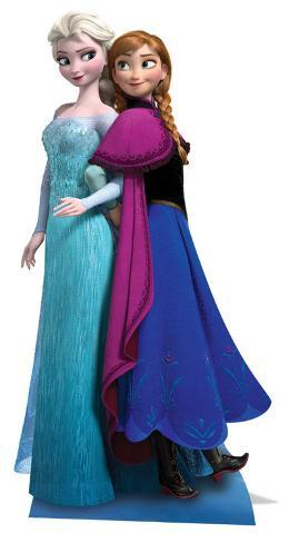 Anna & Elsa - Frozen Cardboard Cutouts