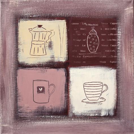Coffee Heart Pingotettu canvasvedos