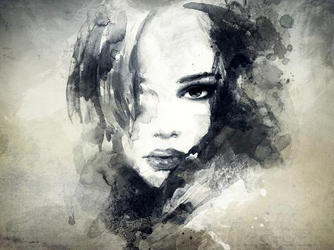 Abstract Woman Portrait