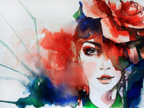 Creative Hand Painted Fashion Illustration Art Print