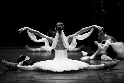 Gorgeous Ballerina Repeating Movements Backstage Photographic Print