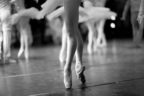 Long and Lean Ballet Dancers Legs Photographic Print
