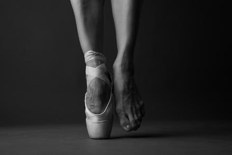 Standing on Tip Toe, Monochrome Photographic Print