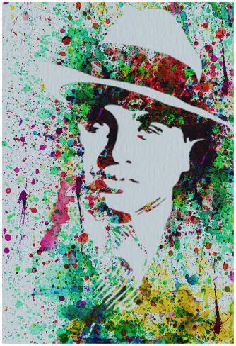 Al Capone Watercolor Poster