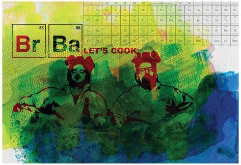 Br Ba Watercolor 1 Pôster