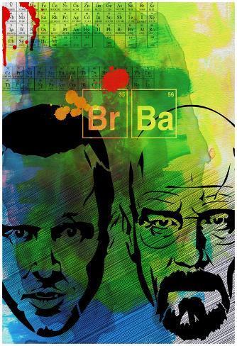 Br Ba Watercolor 2 Poster