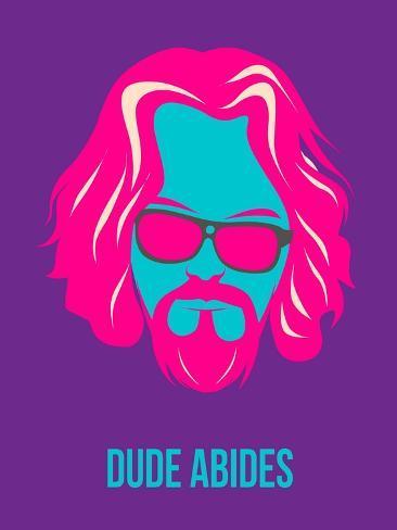 Dude Abides Purple Poster Art Print