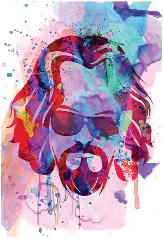 Dude Watercolor Poster