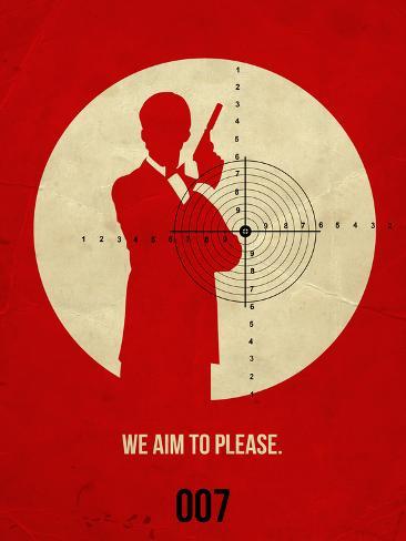James Poster Red 2 Targa di plastica