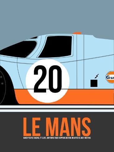 Le Mans Poster 2 Plastic Sign