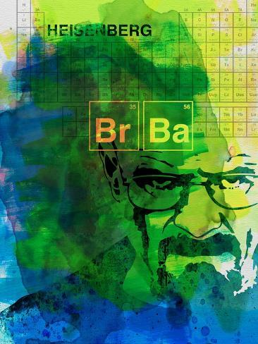 Walter White Watercolor 2 Art Print