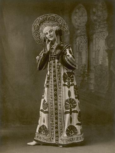 Anna Pavlova Russian Ballet Dancer During a Performance Photographic Print