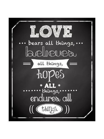 Love Endures Art Print