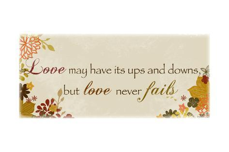 Love Has its Ups and Downs Art Print