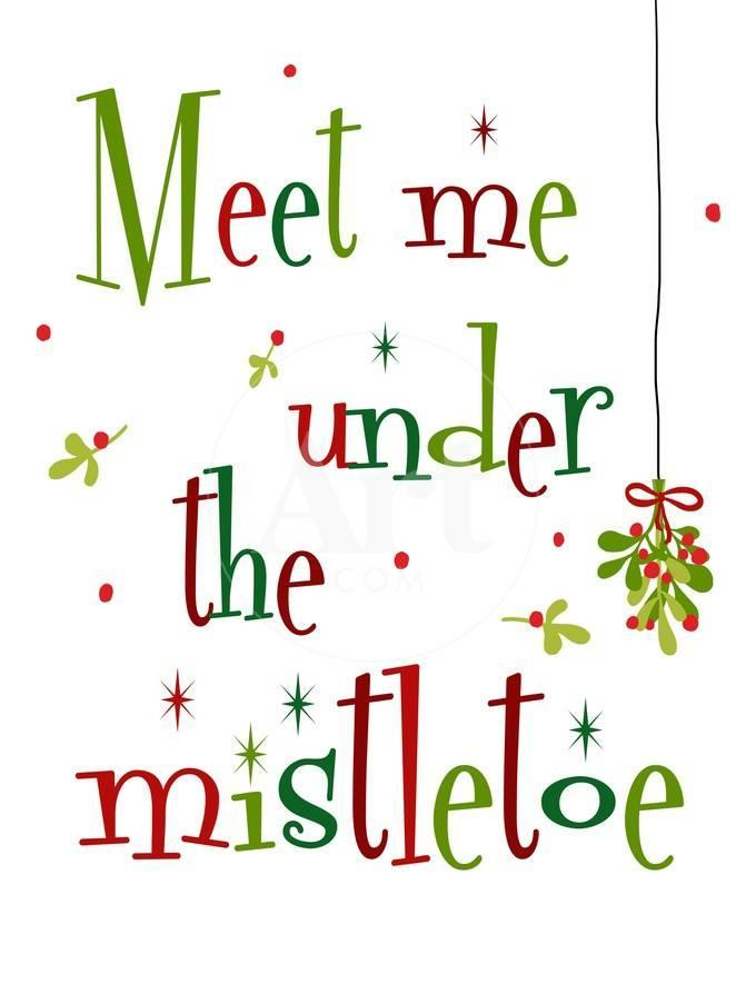 Meet Me Under The Mistletoe Art Anna Quach Allposters Com