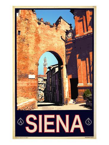 Tower in Siena Italy 1 Giclee Print