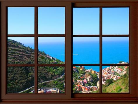 View from the Window at Cinque Terre Giclee Print