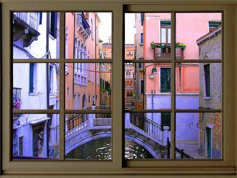 View from the Window over the Canal at Venice Giclee Print
